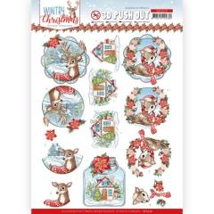SB10579 YC Stanzbogen Wintry Christmas Christmas Tiere