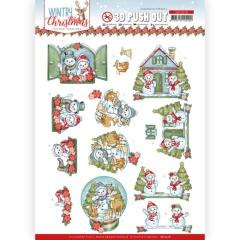 SB10578 YC Stanzbogen Wintry Christmas Christmas Home