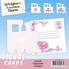 FC4K10001-27 Figuren Karte Zug Babyblau