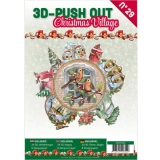 3D Push Out Buch 29 Christmas Village