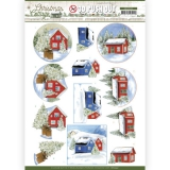 SB10592 JA Stanzbogen Christmas Cottage - Winter Cottage