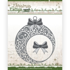 JAD10136 JA Stanzschablone  Christmas Cottage - Christmas Swirls Bauble