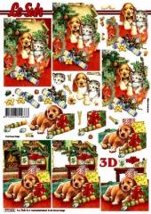 777521 Weihnachten mit Hund und Katze