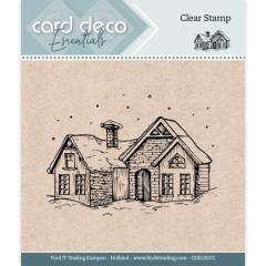 CDECS072 Card Deco Essentials - Clear Stamps - Haus im Schnee