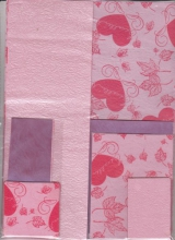 25086943 Papierset rosa/lila