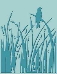 37-1169x Cuttlebug Schablone Bird Call