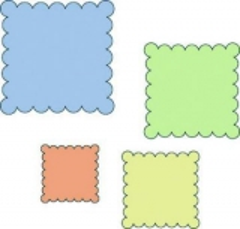 37-1218x Cuttlebug Stanzschablonen Scallop Squares