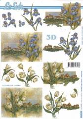 4169872 Landschaft mit Blumen