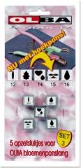 100415 Set 3 mit 5 Stanzeinsätzen für OLBA Blumenzange