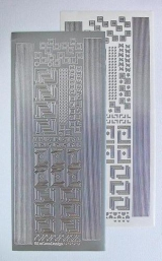 LCR61.3140 Ziersticker Ecken und Ränder silber