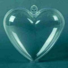 6513-2060 Plastik Herz klar