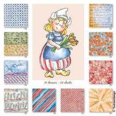 180013-0991 Clear Stamp und Papier Bäuerin