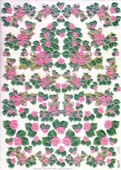 574129x geprägtes Transparentpapier Rosen