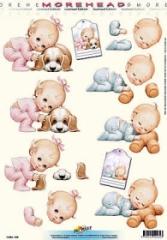 11052-035 Morehead Baby mit Hund und Teddy
