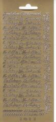 1011g Verschiedene Schriftzüge gold