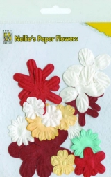 162661 Nellie´s Paper Flowers christmas red