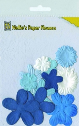 162630 Nellie´s Paper Flowers blue