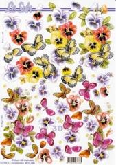 8215304 Violen und Schmetterlinge