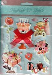 4670231 Handmade 3D Stickers Love