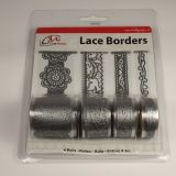 BL382399 Selbstklebende Lace Borders Love Silber