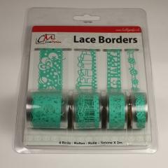 BL382799 Selbstklebende Lace Borders Birthday Aqua