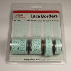 BL383199 Selbstklebende Lace Borders Baby Boy Blue