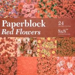 BPB424299 Papierblock Red Flowers
