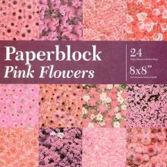 BPB424199 Papierblock Pink Flowers
