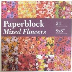 BPB424099 Papierblock Mixed Flowers