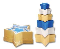 3509 Geschenkboxen farbig Stern