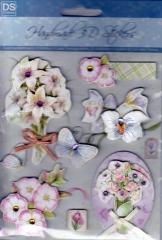 4670234 Handmade 3D Stickers Blumenstrauß