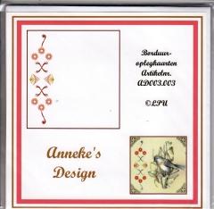 AD003.003w Borduuroplegkarten Annekes Design 03