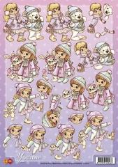 CD10119 Mädchen mit Bär