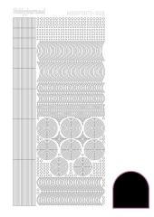 STDA63 Hobby-Dots Sticker Adhesive black (Serie 6)