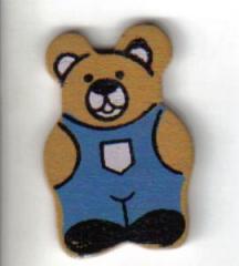 Holzbär blaue Hose