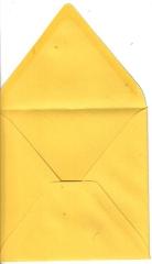 497981 Briefumschlag 14 x 14 strohgelb