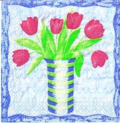 S 14 Tulpen in Vase