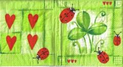 S 12 Herzen, Marienkäfer und Klee